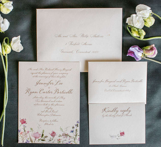 Wedding Invitations | A Spring Wedding in Delaware | Kate Aspen
