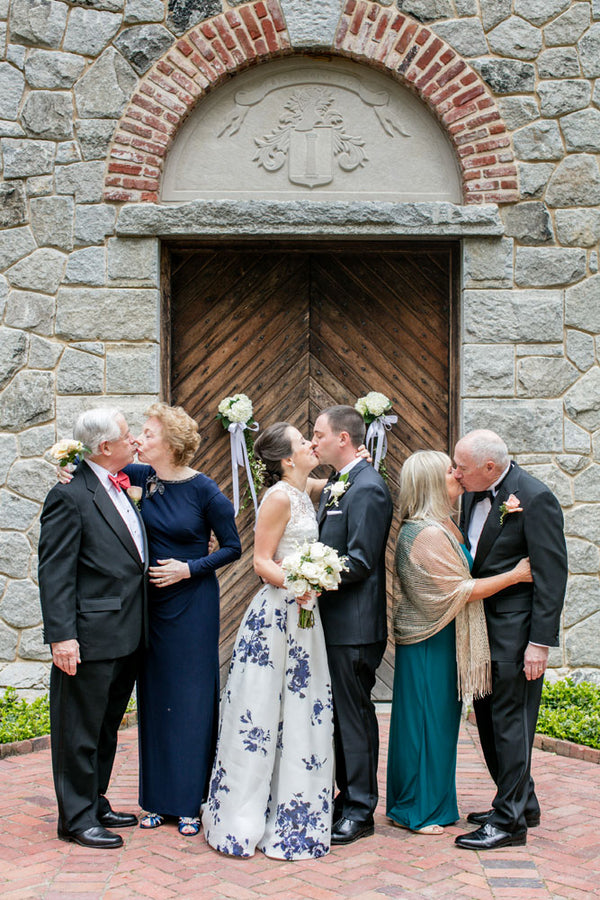 Couples Kissing | A Spring Wedding in Delaware | Kate Aspen