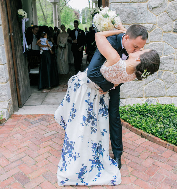 Second Kiss | A Spring Wedding in Delaware | Kate Aspen