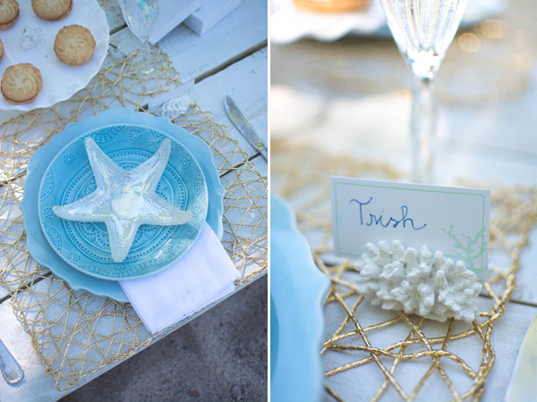 Beach Bridal Shower Place Setting
