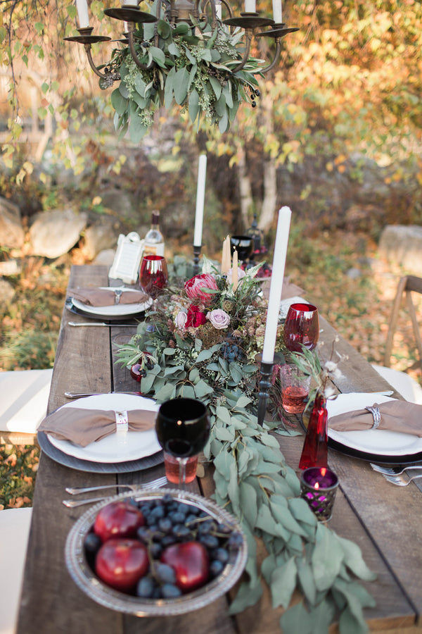 Beautiful Tablescape | Wine Inspired Fall Wedding | Brooke Ellen Photography