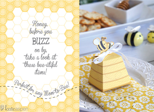 Bee Baby Shower Ideas | Mommy to Bee Baby Shower | bee theme baby shower | blog.kateaspen.com | kateaspen.com | #kateaspen #beetheme