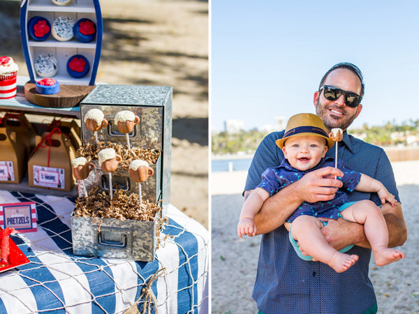 Beer Mug Cake Pops and Dad with son | Megan Long Photography