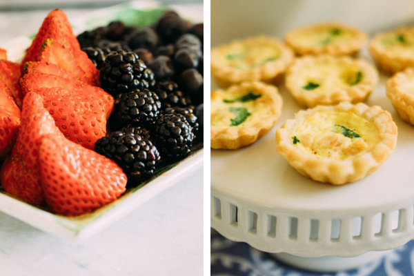 Berries and Mini Quiche  | Easter Brunch | Tim Chong