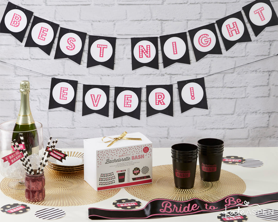 Bachelorette Bash 66 Piece Bachelorette Party Kit | 5 Essential Bachelorette Party Kits | Kate Aspen