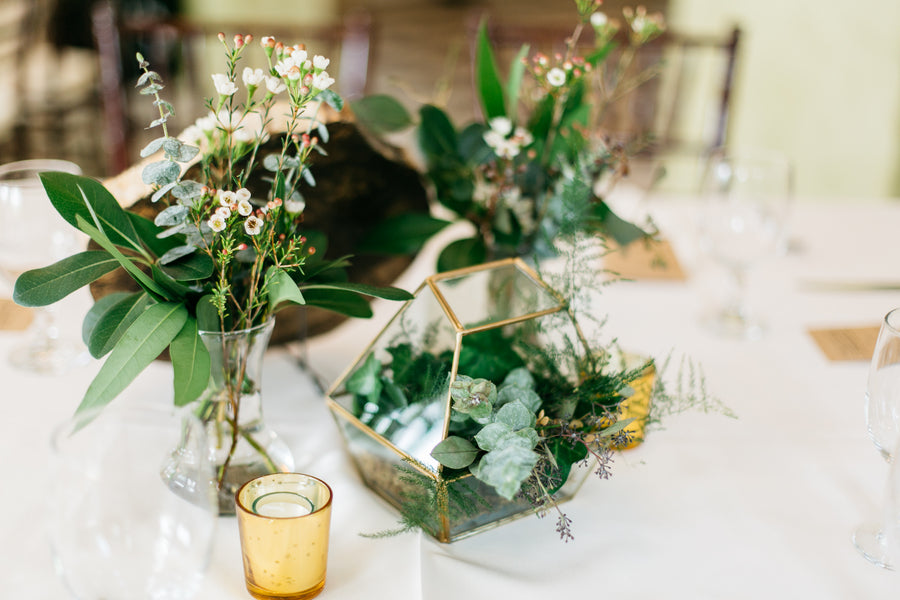 Greenery Table Decor | Outdoor Botanical Wedding | Riverland Studios | Kate Aspen