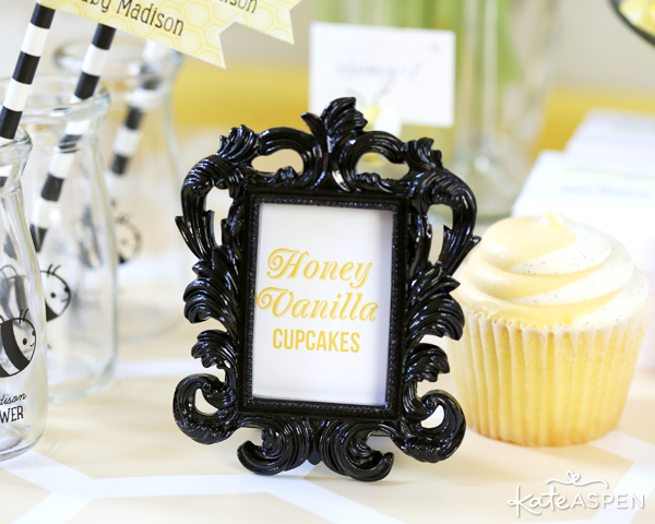 Black Frame | Sweet As Can Bee Baby Shower by Kate Aspen | Photography & Styling: Pizzazzerie
