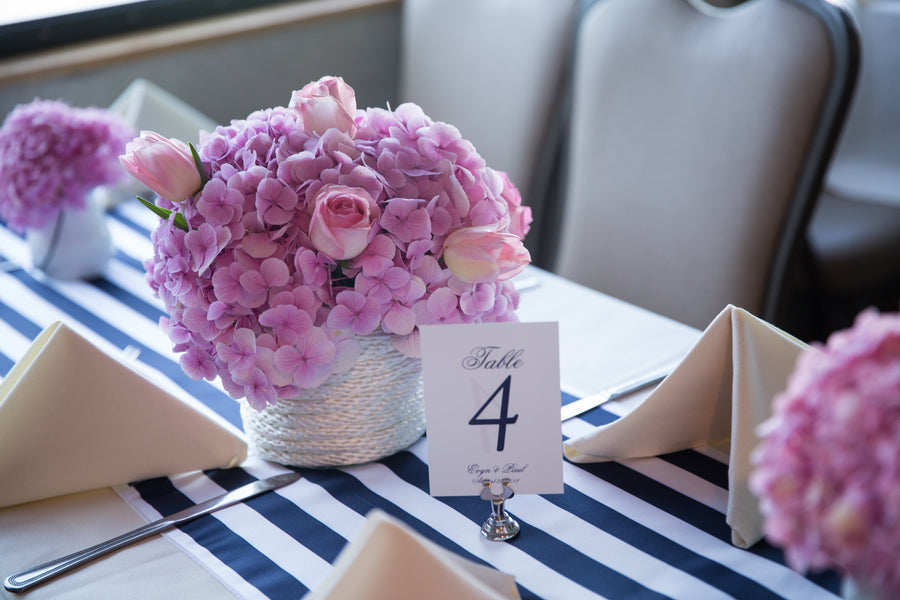Reception Table  | Nautical Wedding On A Boat | Jeramie Lu Photography