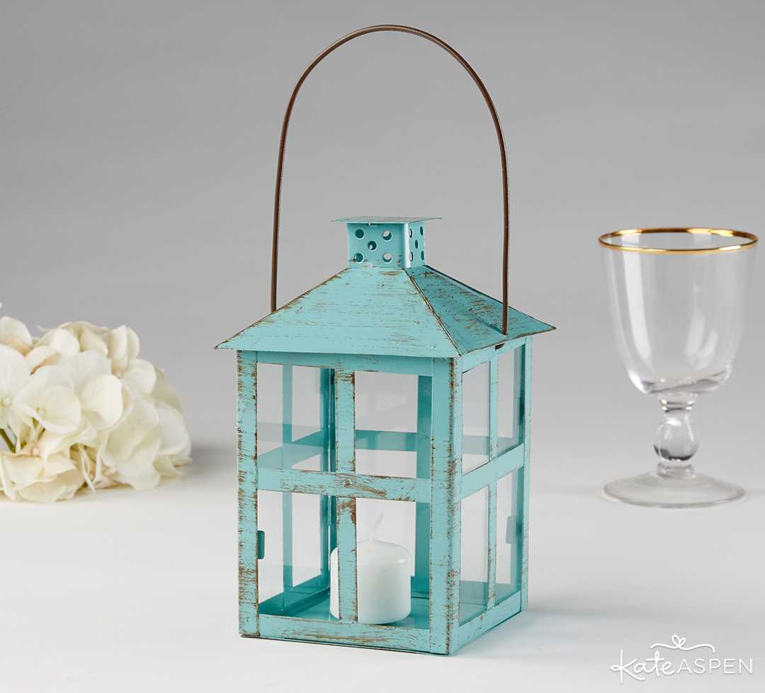 Vintage Blue Distress Lantern | 6 Ways to Light Up Your Night With Lanterns | Kate Aspen