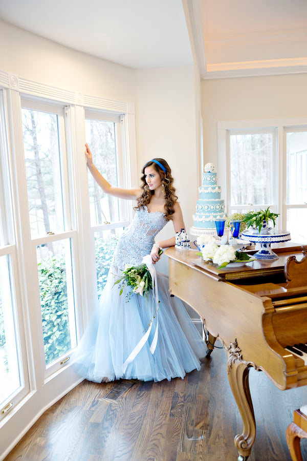 Blue Princess Wedding Dress | 2017 Wedding Dresses | Kate Aspen