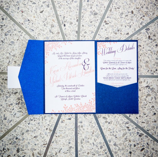 Blue and Pink Invitation | Aviation Themed Wedding | Red Bridge Photography
