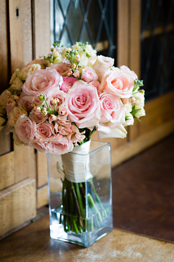Blush Bouquet | Vintage Details for a Downton Abbey Inspired Wedding | HRM Photography