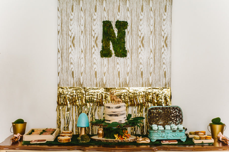 Woodland party dessert table| Jessica Charles Photography