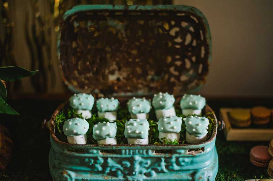 Mushroom cap dipped marshmallows| Jessica Charles Photography