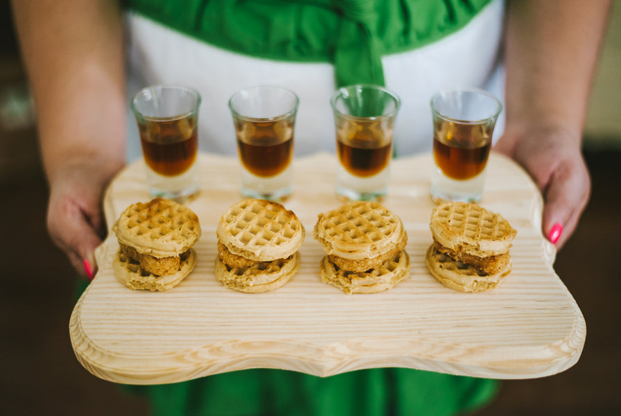 Mini chicken and waffles| Jessica Charles Photography