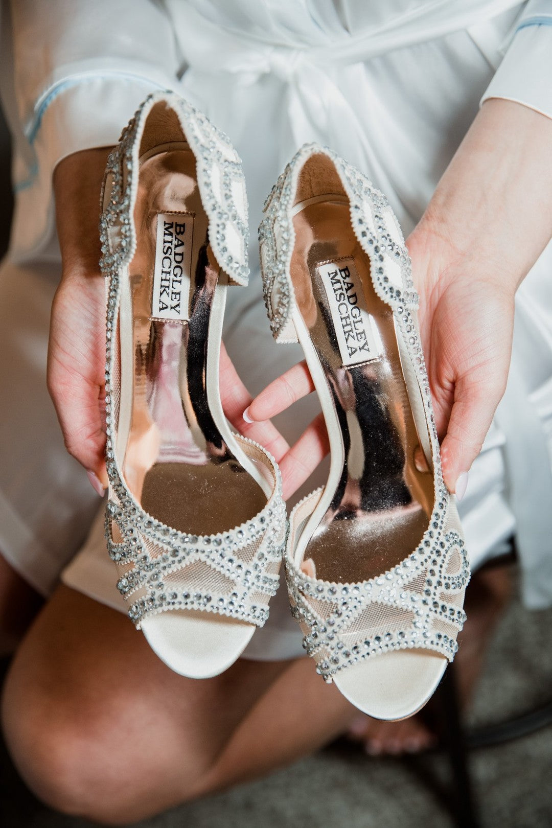 Bride's Shoes | A Gorgeous Grand Wedding in Ohio | Kate Aspen