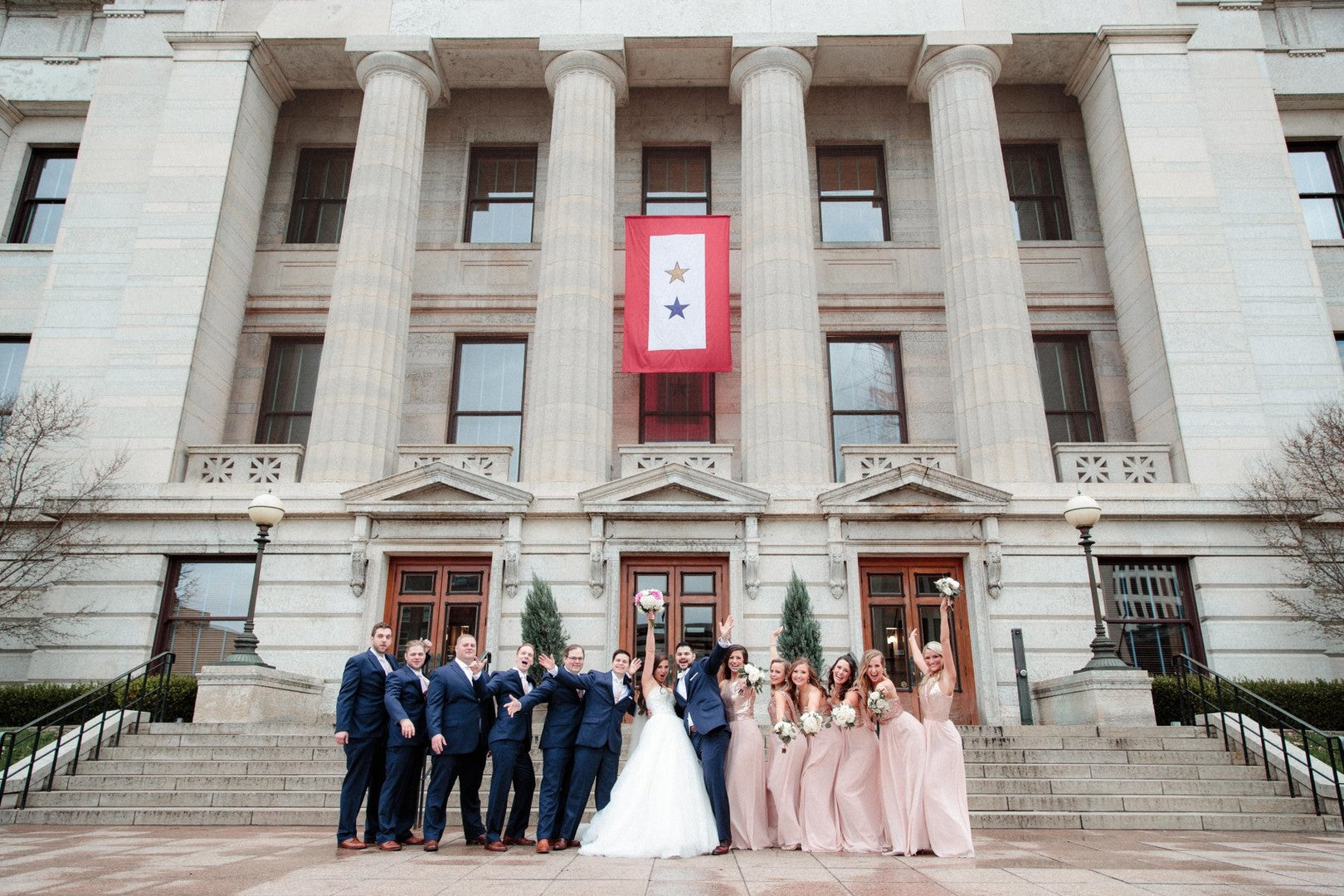 Bridal Party | A Gorgeous Grand Wedding in Ohio | Kate Aspen