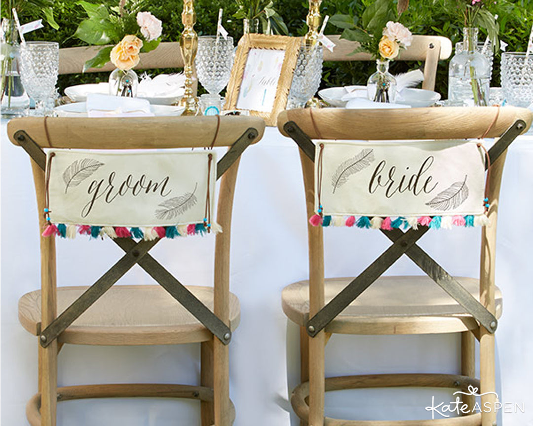 Boho Bride and Groom Sign | Kate Aspen