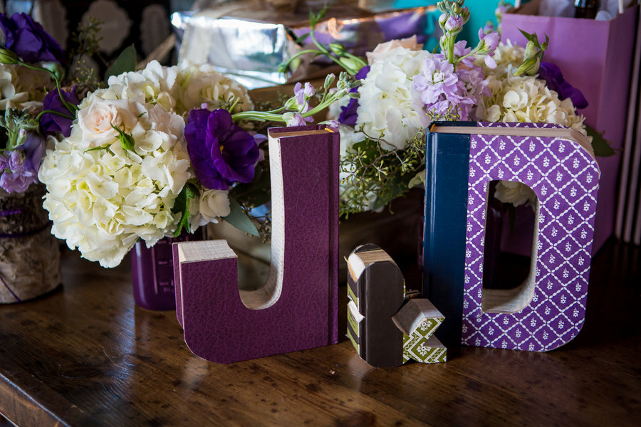 Gift Table | Purple Industrial Themed Wedding | Asteria Photography