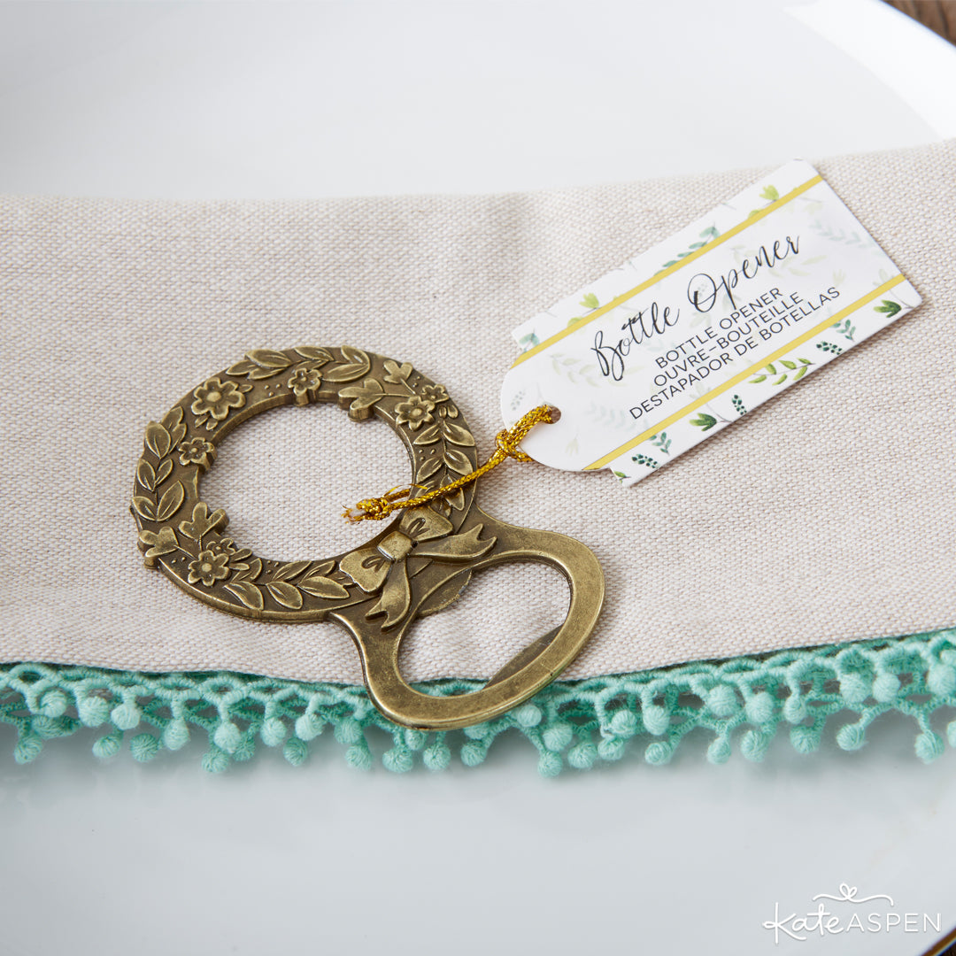 Botanical Bottle Opener | 6 Budding Additions to Your Botanical Wedding | Kate Aspen