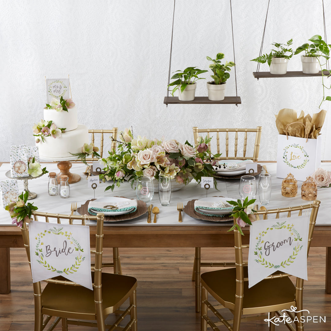 Botanical Garden Tablescape | 6 Budding Additions to Your Botanical Wedding | Kate Aspen