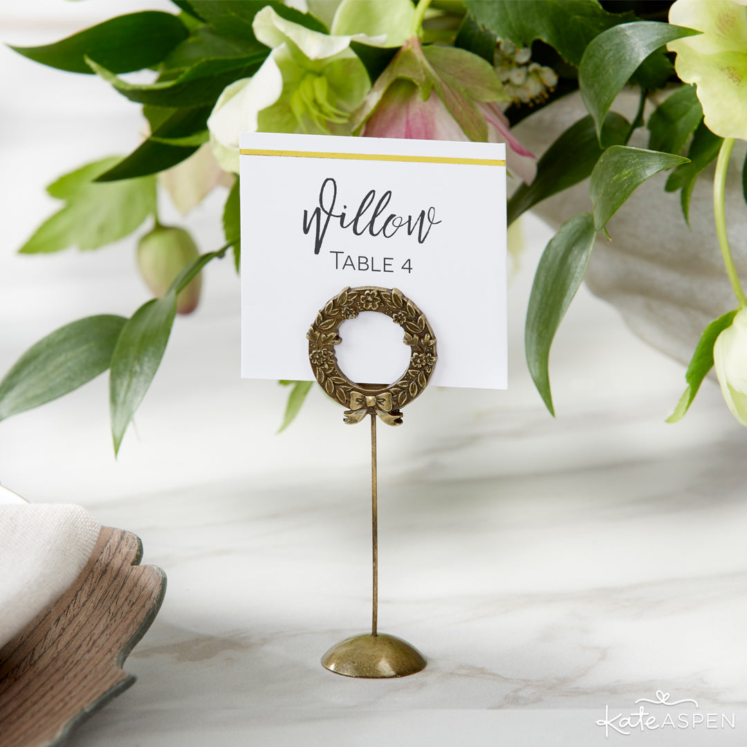 Botanical Place Card Holder | 6 Budding Additions to Your Botanical Wedding | Kate Aspen