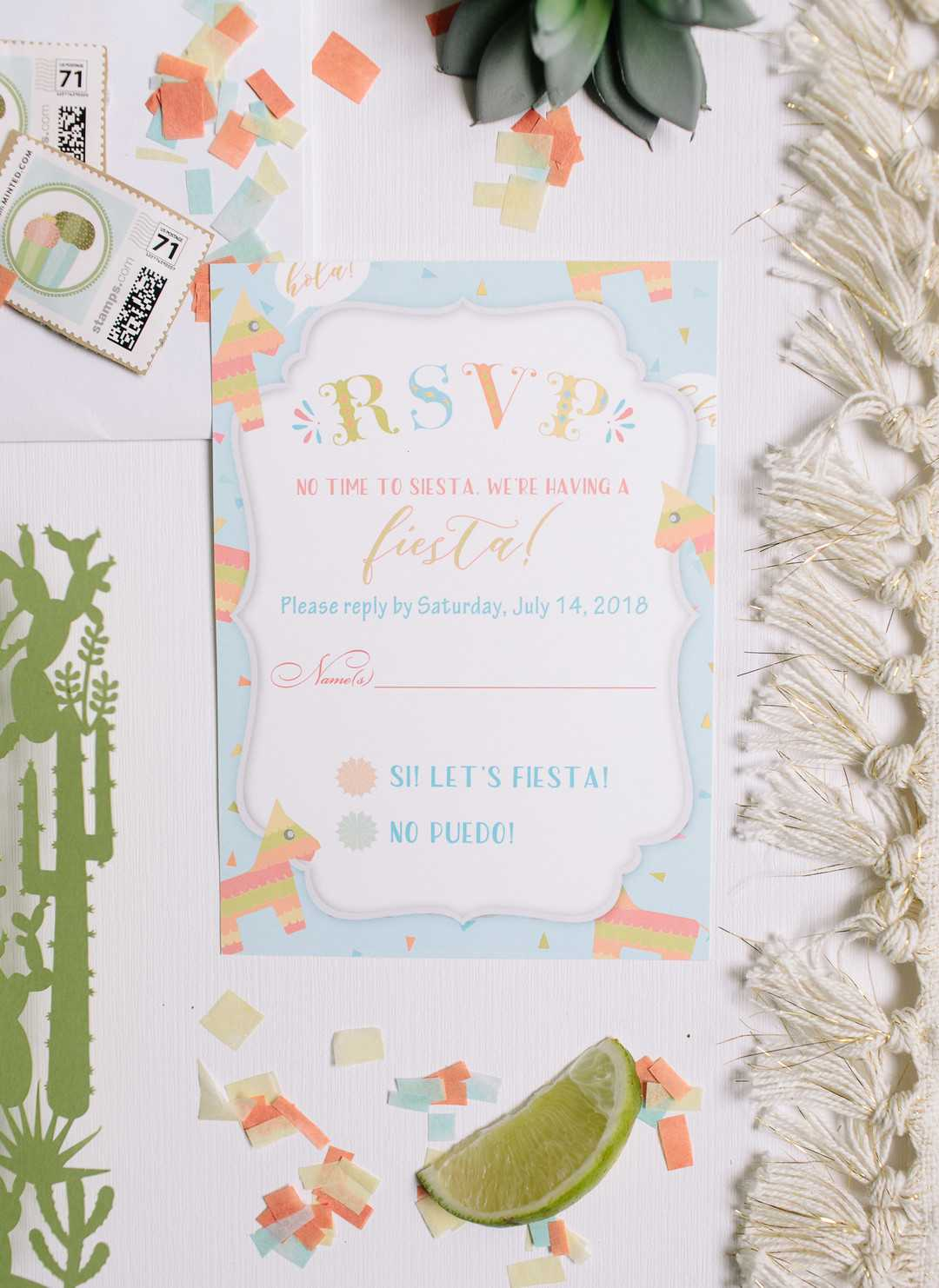 Taco Twosday Birthday Invitations | A Taco Twosday Birthday Fiesta | Kate Aspen