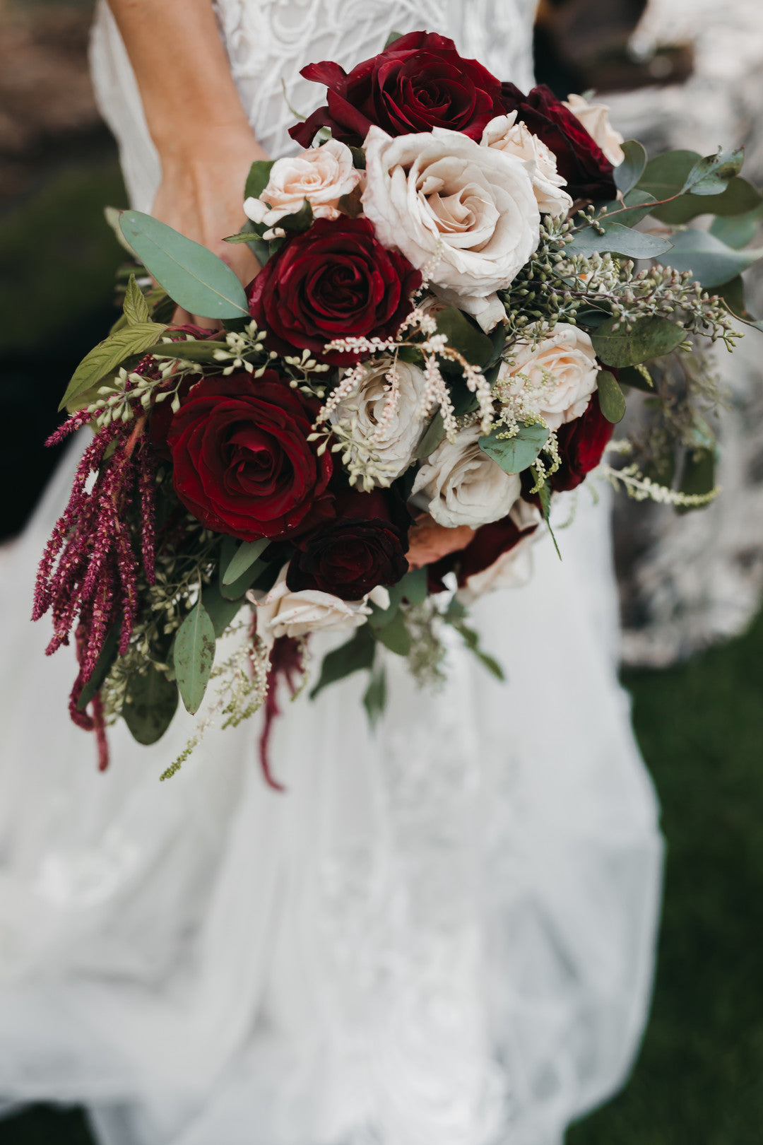 Bride Bouquet | A Vintage Gothic Halloween Wedding | Kate Aspen