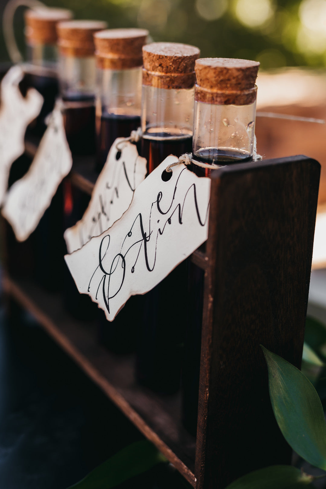 Wine Test Tubes |  A Vintage Gothic Halloween Wedding | Kate Aspen