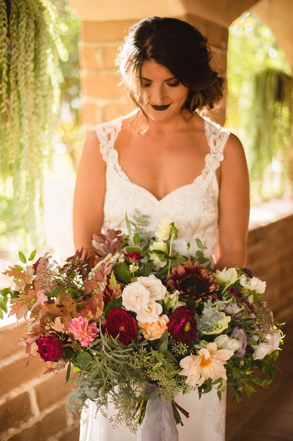 Bridal Bouquet | Winter Winery Wedding | Amy Millard Creative Studio