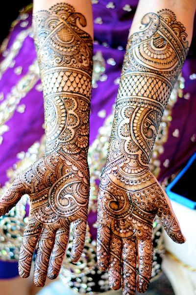 Mehndi on bride's arms | Henna Craze via Maharani Weddings
