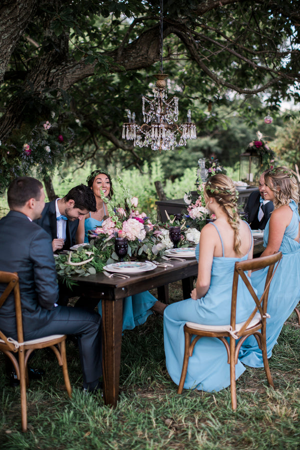 Bridal Party At Reception Table | Details For The Perfect Floral Wedding | Kate Aspen