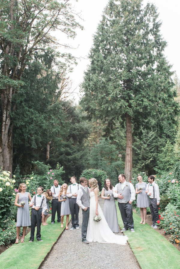 Bridal Party | Blissful Garden Wedding Details | B. Jones Photography