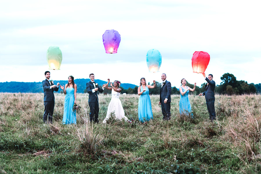 Bridal Party With Lanterns | Details For The Perfect Floral Wedding | Kate Aspen