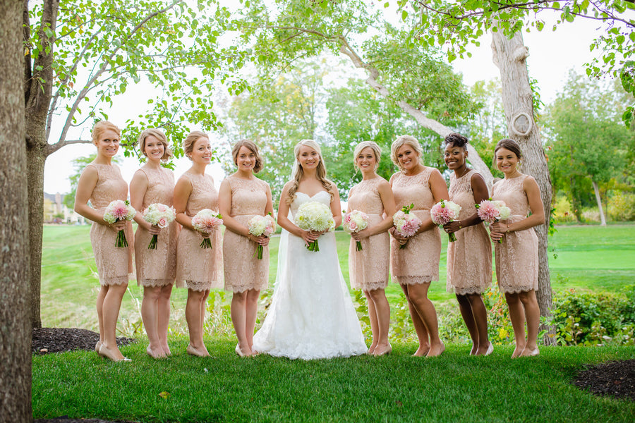 Bridal Party | Blush and Gold Wedding | Asteria Photography
