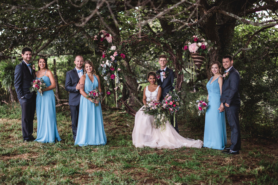 Bridal Party | Details For The Perfect Floral Wedding | Kate Aspen