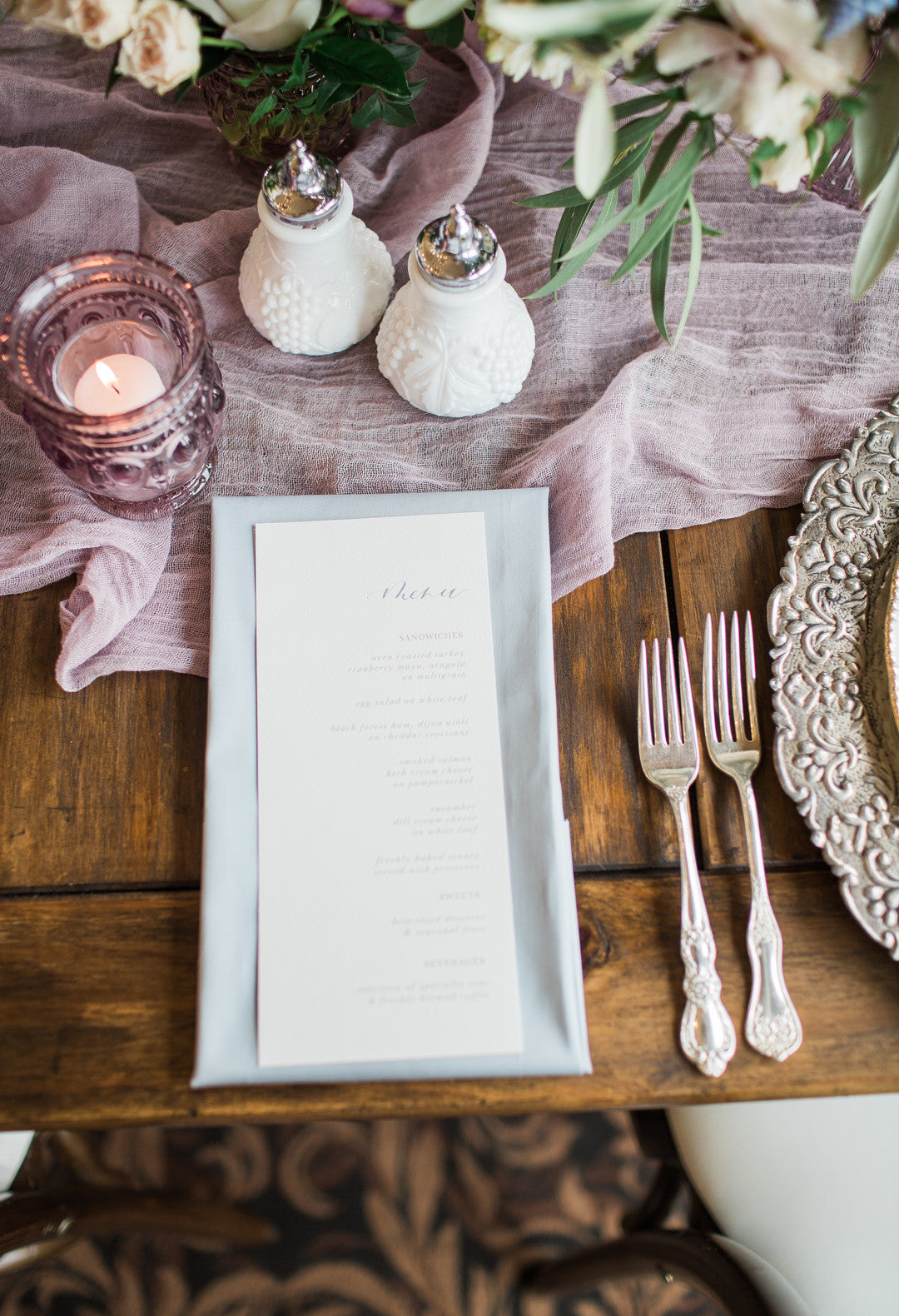 Bridal Shower Menu | Tips For the Perfect Floral Bridal Shower | Kate Aspen