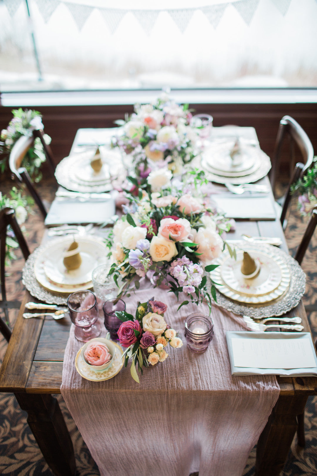 Bridal Shower Table | Tips For the Perfect Floral Bridal Shower | Kate Aspen