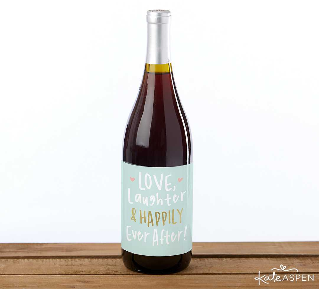 Bridal Shower Wine Label | 10 Gift Ideas for Your Wedding Party | Kate Aspen