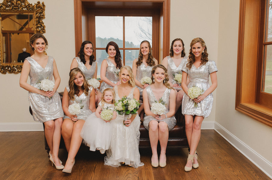 Bride, Bridesmaids and Flower Girl | 1920s Inspired Wedding | Priscilla Thomas Photography
