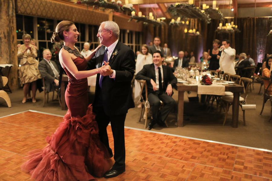 Bride Dances With Dad | Burgundy Fall Wedding | Pepper Nix Photography