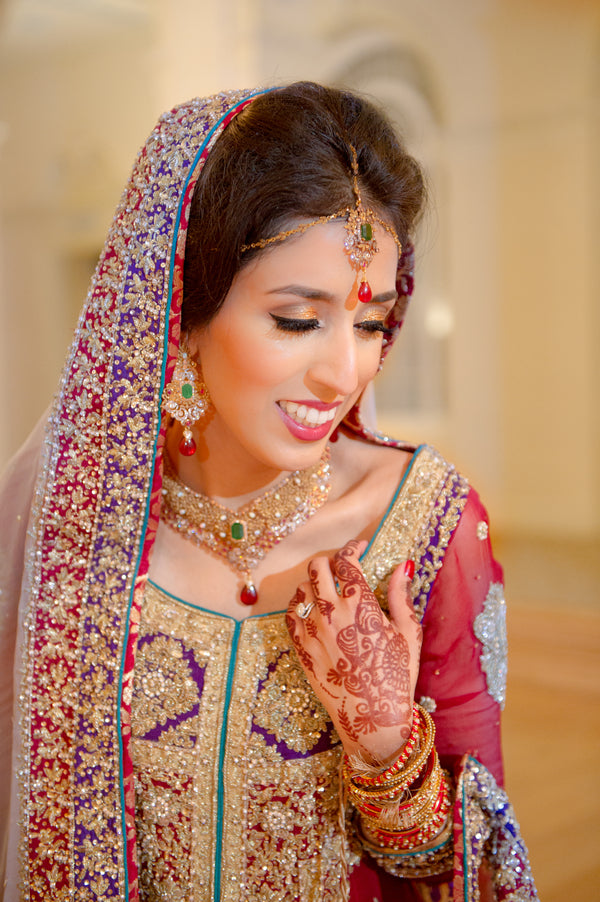 Bride Details | Pakistani Wedding | Fusion South Asian Wedding | Paris Mountain Photography