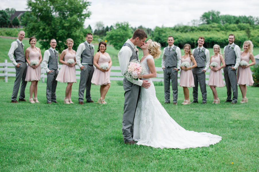 Bridal Party and Bride and Groom  | Spring Rustic Barn Wedding | Time Into Pixels Photography