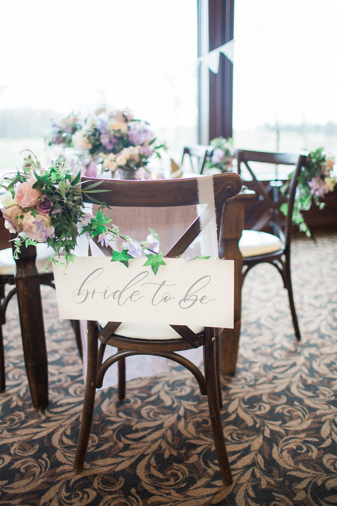 Bride To Be Seat | Tips For the Perfect Floral Bridal Shower | Kate Aspen