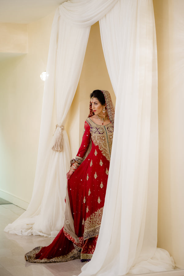 Bride | Fusion South Asian Wedding | Paris Mountain Photography