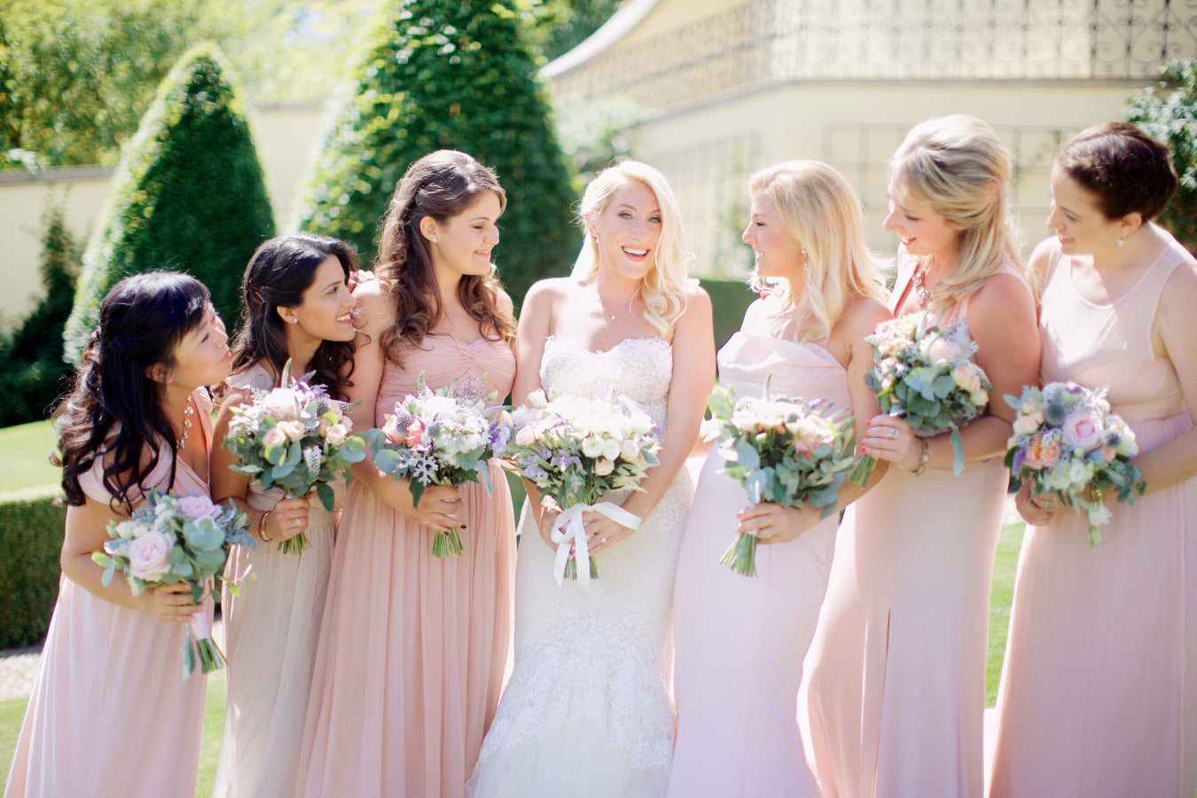 Bride and Bridesmaids in Blush | Summer Wedding in Prague | Photography: Stepan Vrzala