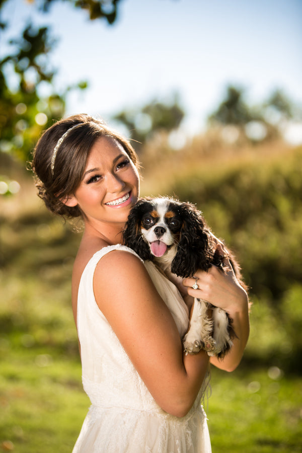 Bride With Dog | Al Fresco Vintage Wedding Shoot | Aldabella Photography