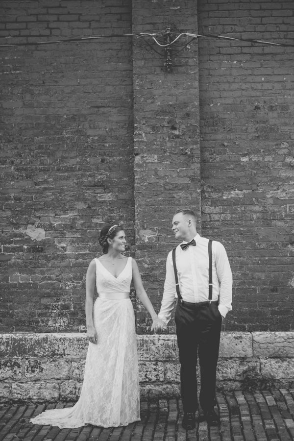 Bride and Groom | Purple Industrial Themed Wedding | Asteria Photography