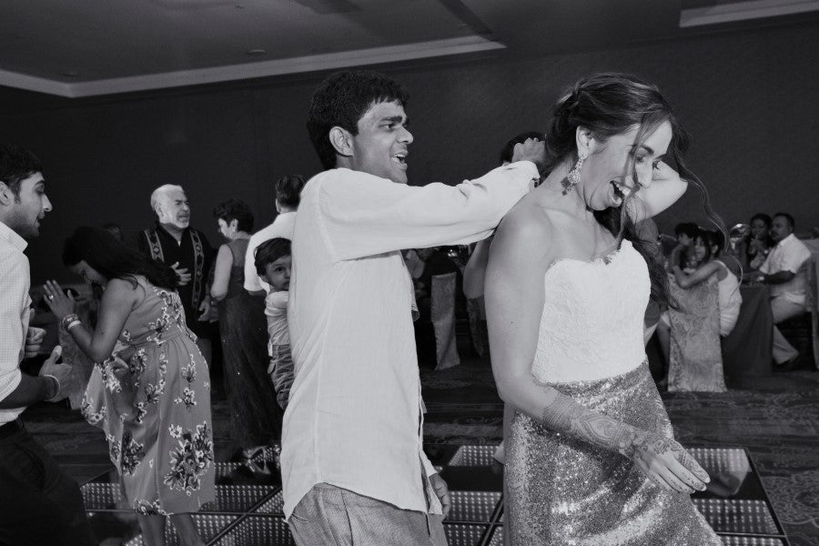Dance Floor  Indian Fusion Wedding | Adrienne Fletcher Photography