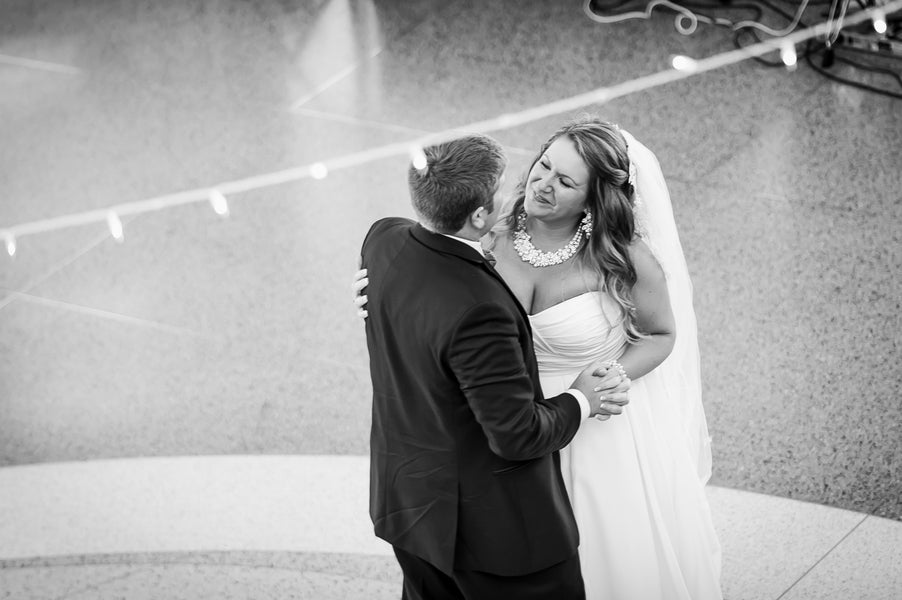 Bride and Groom First Dance | Aviation Themed Wedding | Red Bridge Photography
